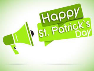 megaphone : happy saint patrick's day