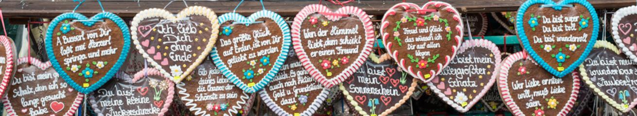 Gingerbread hearts at the Oktoberfest