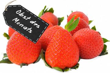 Erdbeere, Obst des Monats