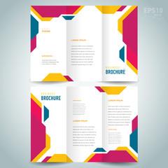 brochure design template technologic abstract