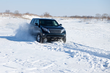 Winter SUV ride