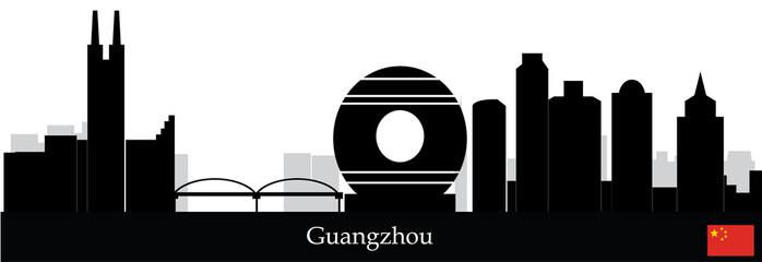 guangzhou chinese city skyline