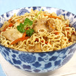 Asian noodles with chicken and soy sauce