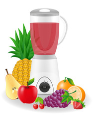 kitchen blender stationary vector illustration