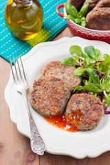 cutlets with cabbage and mushrooms for a vegetarian diet