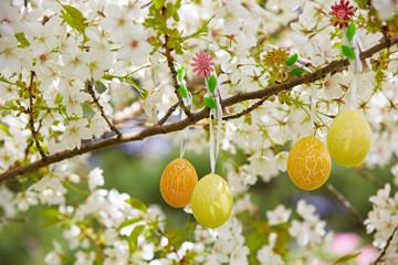 Ostereier in einem Baum