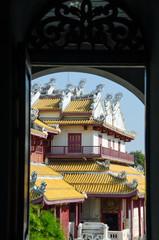 Chinese temple in Bang Pa-In Palace at Ayutthaya Thailand