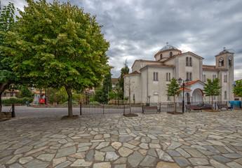 Church in greece village Kastraki near Meteora rocks