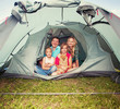 Family in a tent