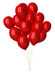 Many red glossy balloons