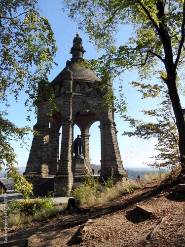 Leinwanddruck Bild Porta Westfalica: Kaiser Wilhelm Denkmal