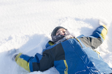 Child Doing the Snow Angel