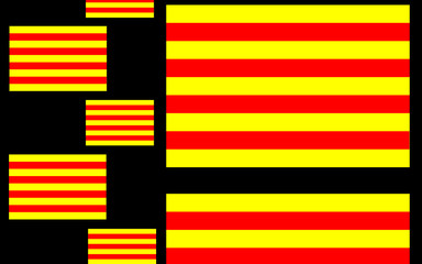 Composition with Senyera, flag of Catalonia, 4