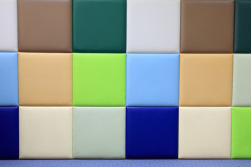 Colorful soft wall covering panel