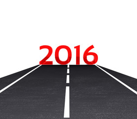 3D illustration - the road leading to the New Year 2016