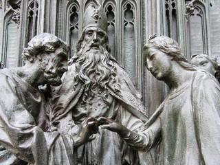 Bronze sculpture of a wedding