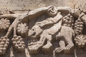 Relief an der armenischen Heiligkreuzkirche in Akdamar