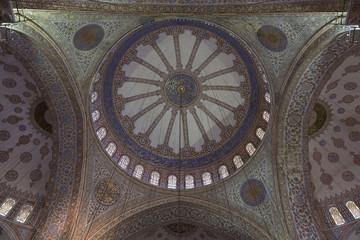 Zentralkuppel der Blauen Moschee in Istanbul