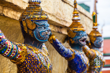Garuda statues in the Grand Palace, Thailand.