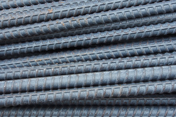 steel rods or bars background