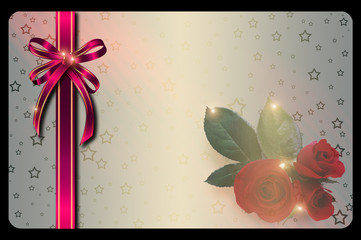 Gift card template.