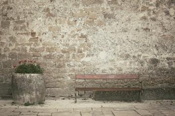 Ławka w starym mieście