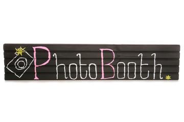 Handmade chalkboard photobooth sign