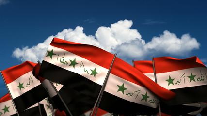 Waving Iraqi Flags