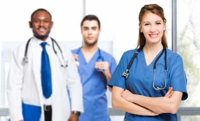 Multiethnic medical team