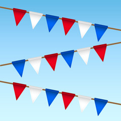 vector flag garland for usa independence day
