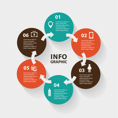 Vector circle abstract arrows infographic. Template for diagram