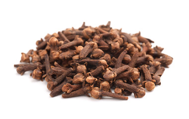 Pile of dried cloves spice