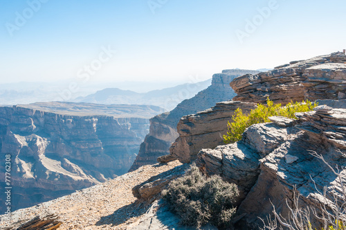 Fotobehang Canyon View of mountain terrain of Grand Canyon of Middle-East, Oman