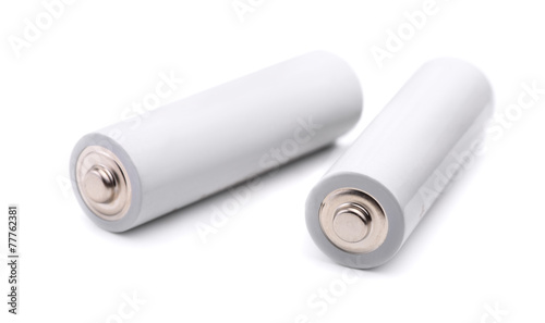 Leinwanddruck Bild Pair of AA size batteries