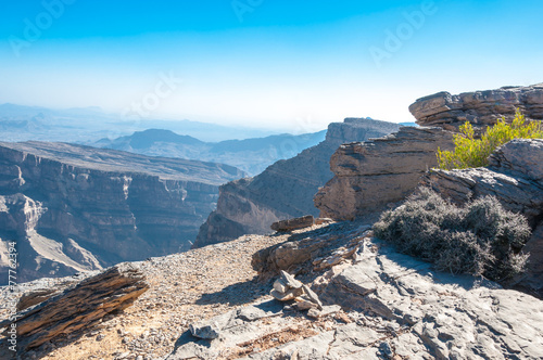 Fotobehang Canyon Grand Canyon of Middle-East, Oman