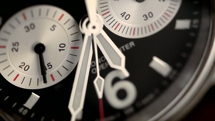 Chronograph close up with asecond hand