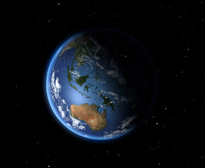 The Earth from space. Australia and Oceania