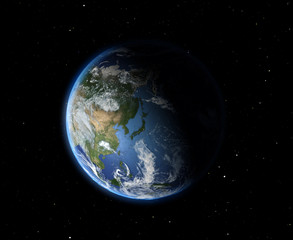 The Earth from space. Asia