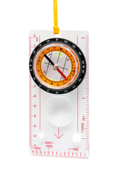 Compass with yellow cord