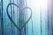 Obrazy na płótnie, fototapety, zdjęcia, fotoobrazy drukowane : Sad love heart symbol background