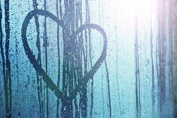 Sad love heart symbol background