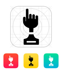 Hand cup icon on white background.