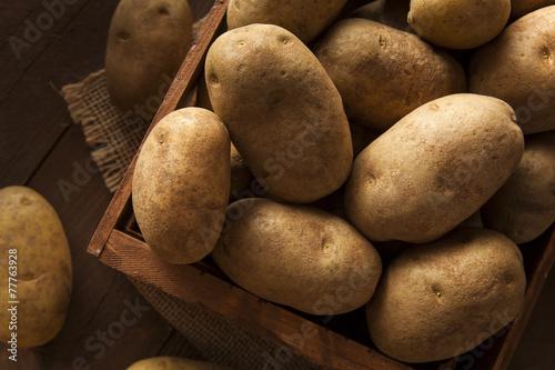 Canvas Groenten Organic Raw Brown Potatoes