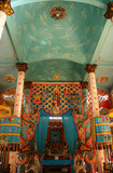 Interior of Cao Dai temple not far from Ho Chi Minh City poster