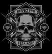 Respect skull lightning graphic - 77764997