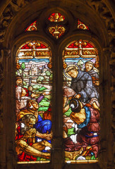 Spanish Priest Stained Glass Salamanca New Cathedral
