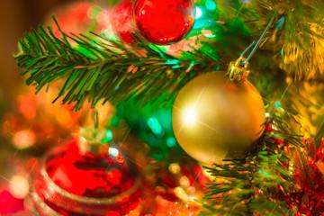 Palla di Natale con sfondo
