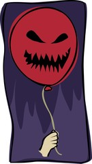 scary red balloon