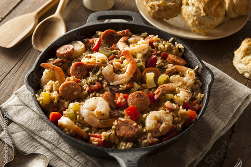 Spicy Homemade Cajun Jambalaya - 77765724