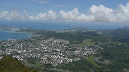 Kailua hawaii from above